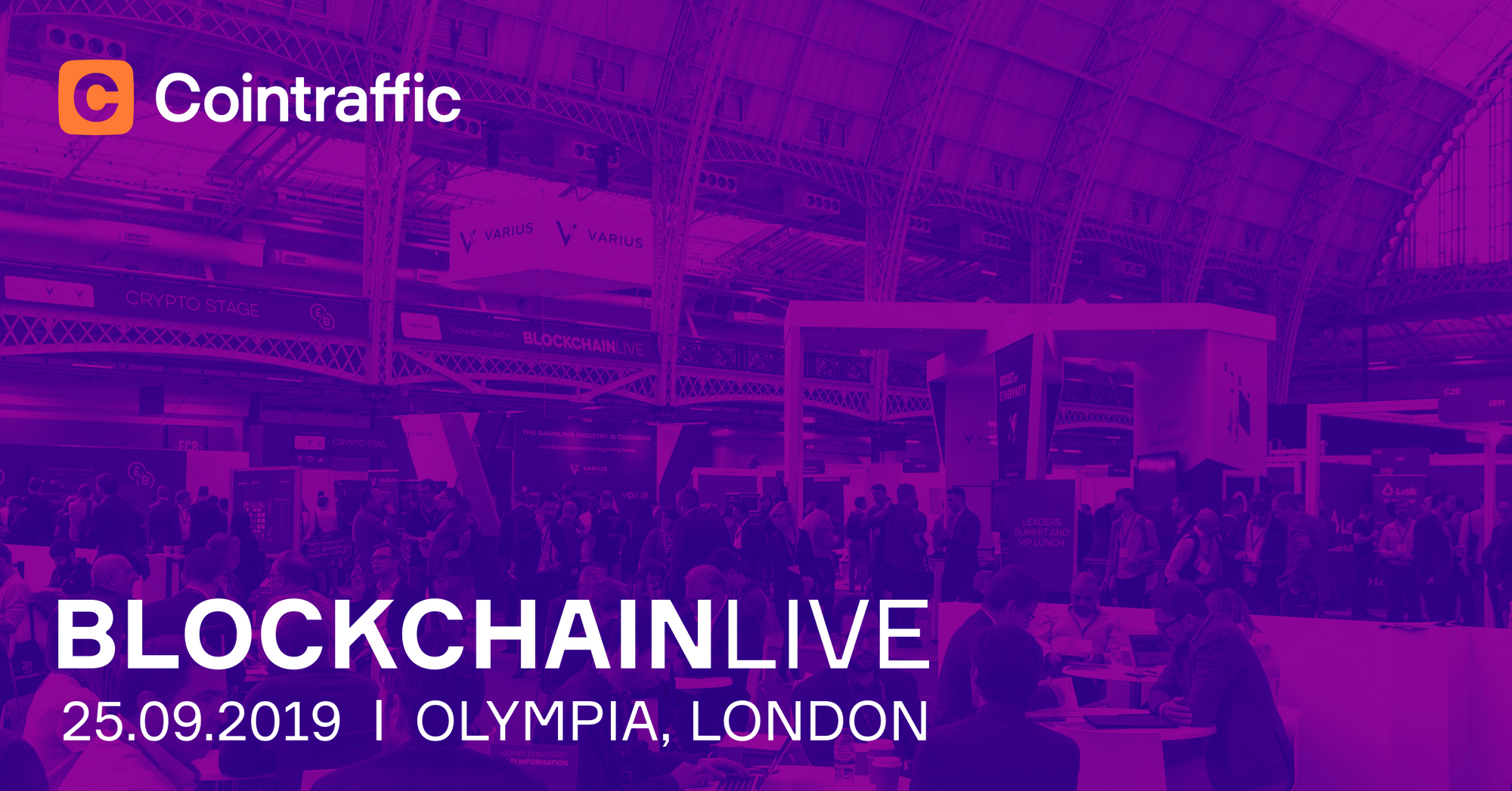 Get Ready for Blockchain Live in London Olympia, September 25th, 2019
